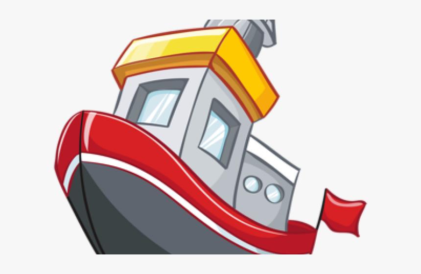 Fishing Boat Clipart Transportation Cartoon Ship Vector Hd Png Download Kindpng
