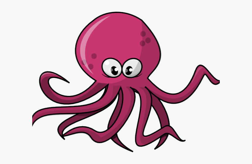 Squid Clipart Animated - Octopus Clipart Png, Transparent Png, Free Download