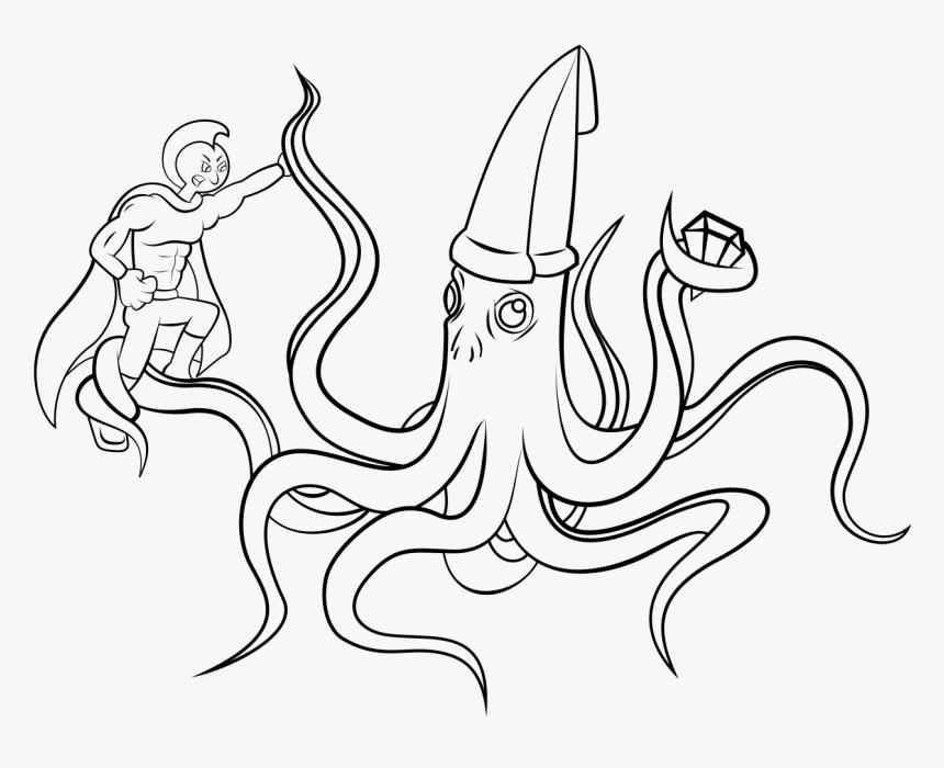 Squid Ink - Line Art, HD Png Download, Free Download