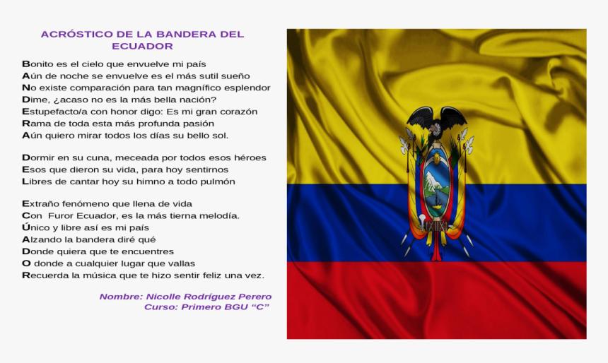 Transparent Bandera Peruana Png - Acrostico De La Bandera Del Ecuador, Png Download, Free Download