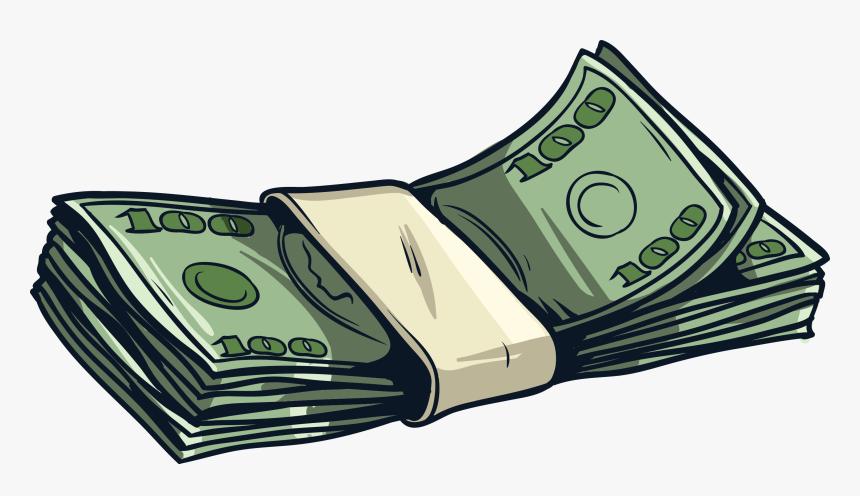 Cartoon Money Stack Png, Transparent Png, Free Download