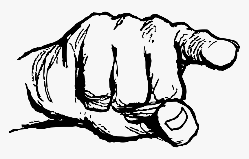 Pointing Finger Clipart Transparent, HD Png Download, Free Download