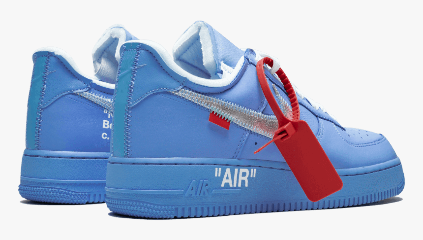 Nike Air Force 1 Low Off White Mca University Blue Nike Air Force 1 Off White Mca Hd Png Download Kindpng