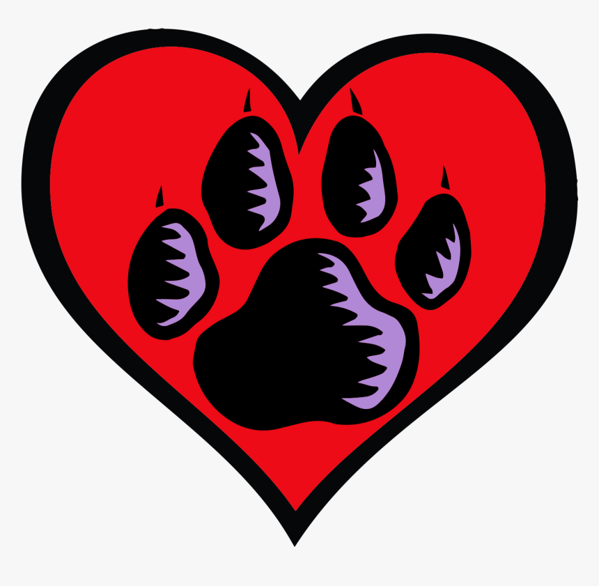 Heart Paw Print Png Www - Heart Clipart, Transparent Png, Free Download