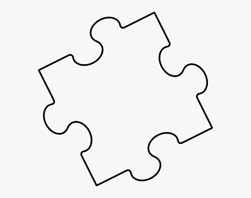 This is a picture of Printable Puzzle Piece Template with regard to full page