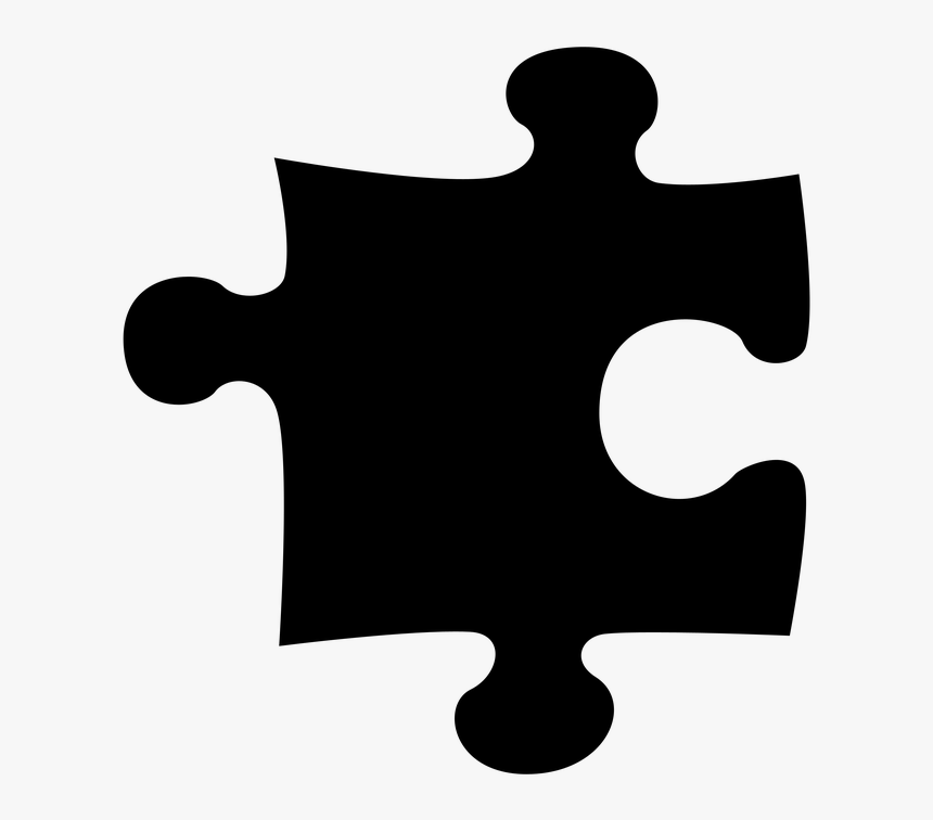 Puzzle Clipart Drawing - Black Puzzle Piece Transparent Background, HD Png Download, Free Download