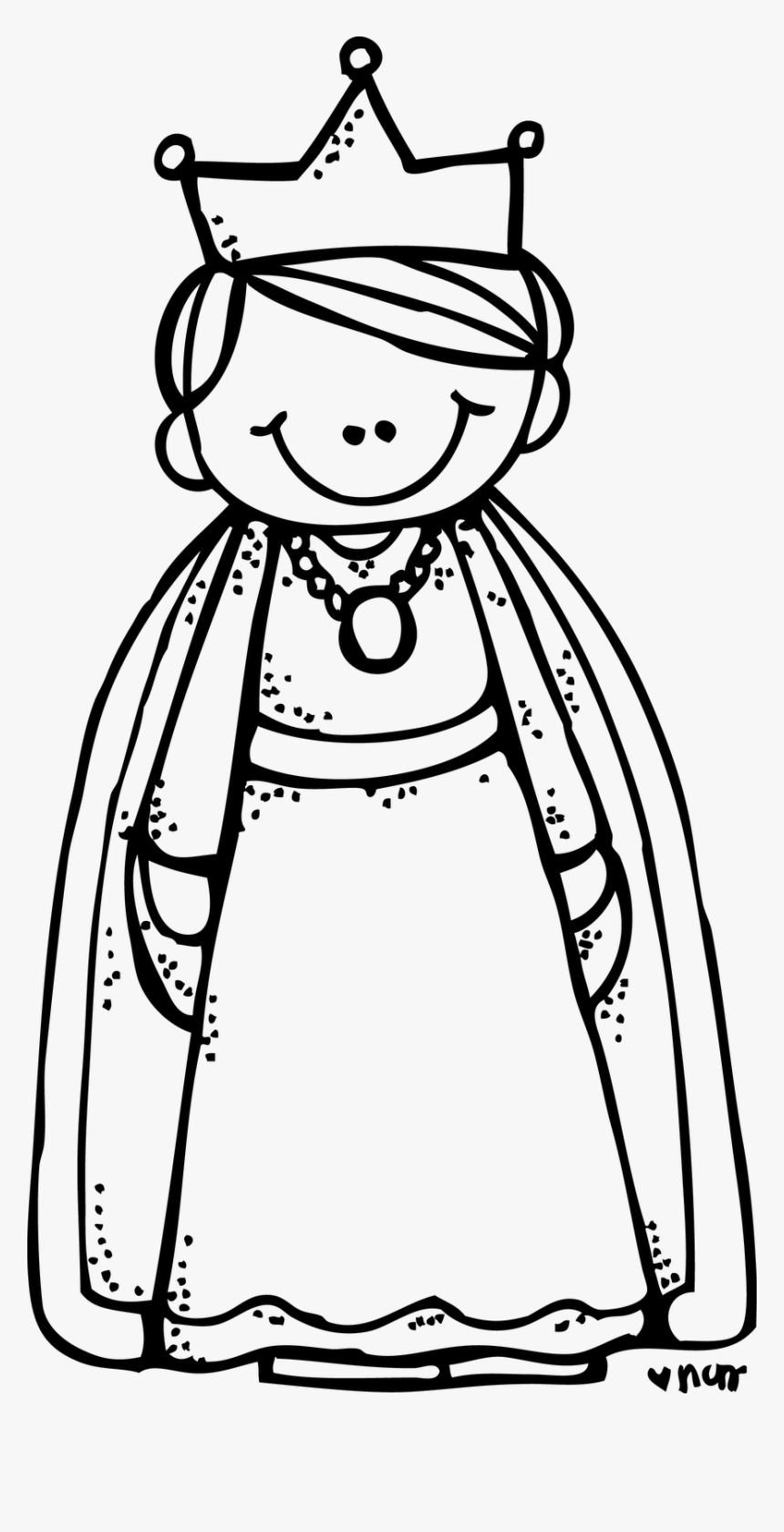 Queen Black And White Clipart Queen Clipart Black And White Hd Png Download Kindpng