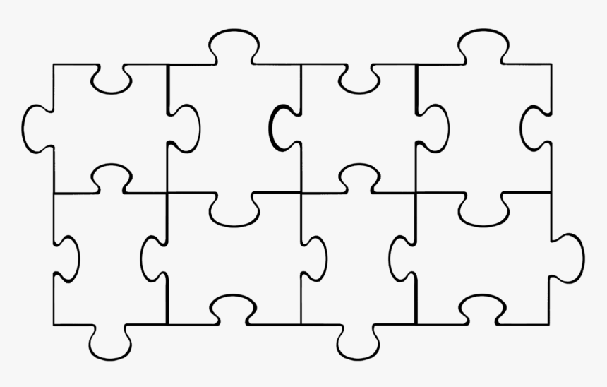 Puzzle Pieces Template, HD Png Download, Free Download