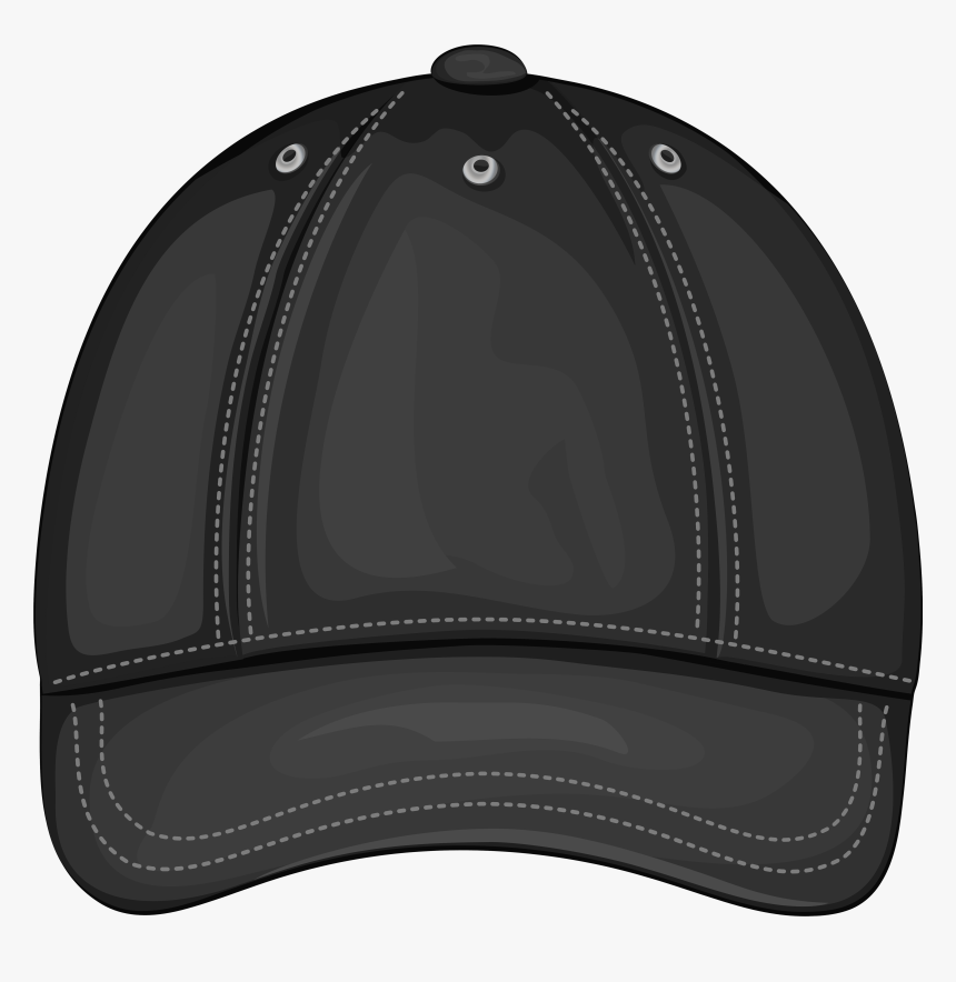 Black Baseball Cap Front Png Clipart - Baseball Cap, Transparent Png, Free Download