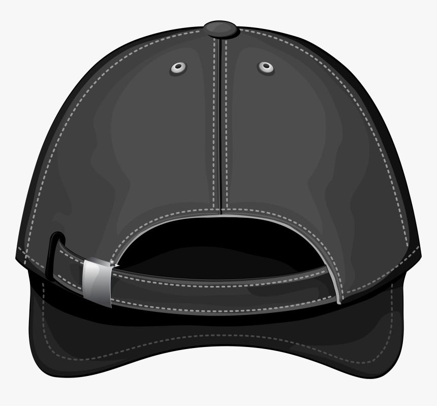 Black Baseball Cap Back Png Clipart - Baseball Cap, Transparent Png, Free Download