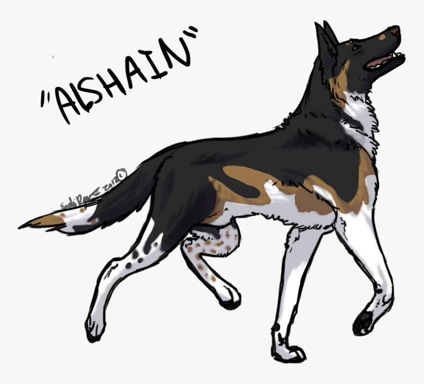 Collection Of Free Dogs Drawing German Shepherd Download - Drawings Of Anime Dogs, HD Png Download, Free Download