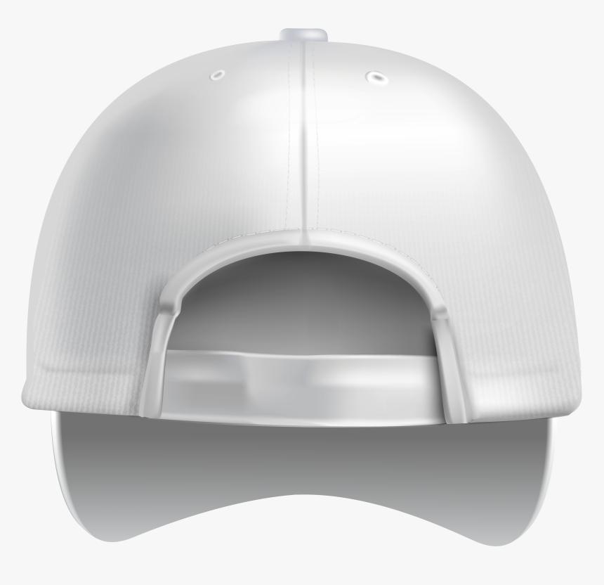 White Plain Baseball Cap Back Png Clipart - Back Plain White Cap, Transparent Png, Free Download