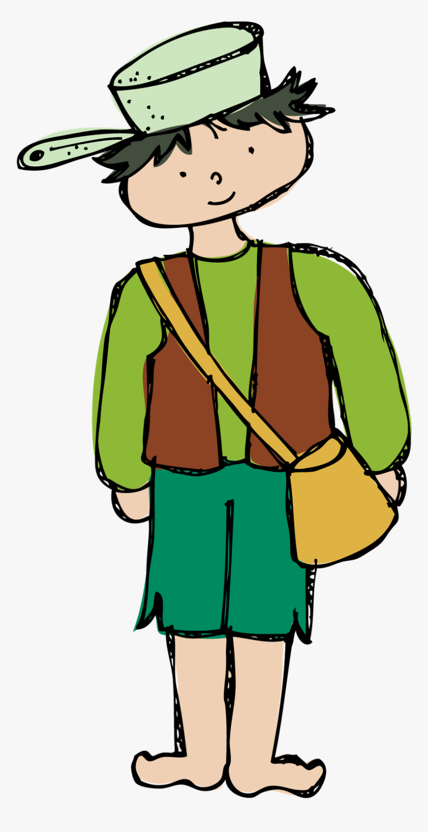 Homeless Clipart Poverty - Johnny Appleseed Clipart, HD Png Download, Free Download