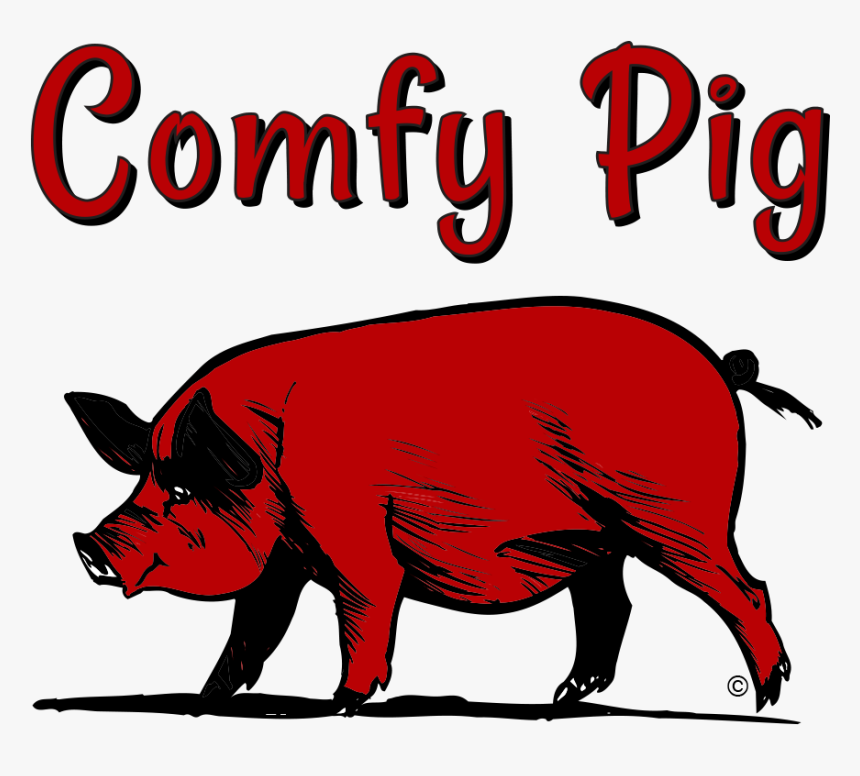 Comfy Pig Bbq Fairfield Connecticut Barbeque - Red Pig Clip Art, HD Png Download, Free Download