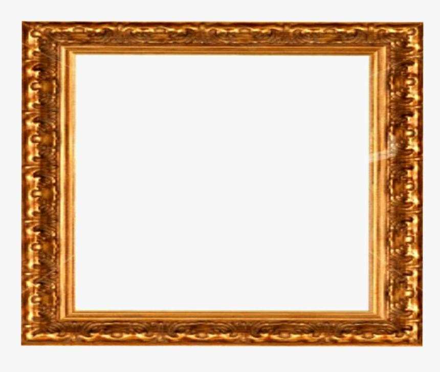 Golden Frame Png Download Image - Golden Vintage Frame Png, Transparent Png, Free Download