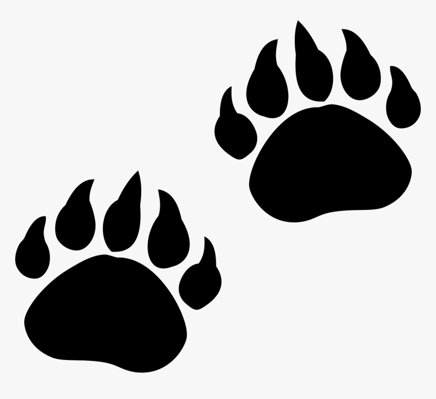 Bear Paw Print Png - Transparent Bear Claw Png, Png Download, Free Download