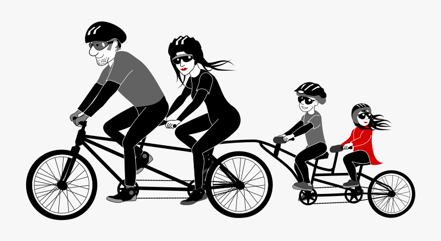 Cycle Clipart Person - Family Bike Ride Png, Transparent Png, Free Download