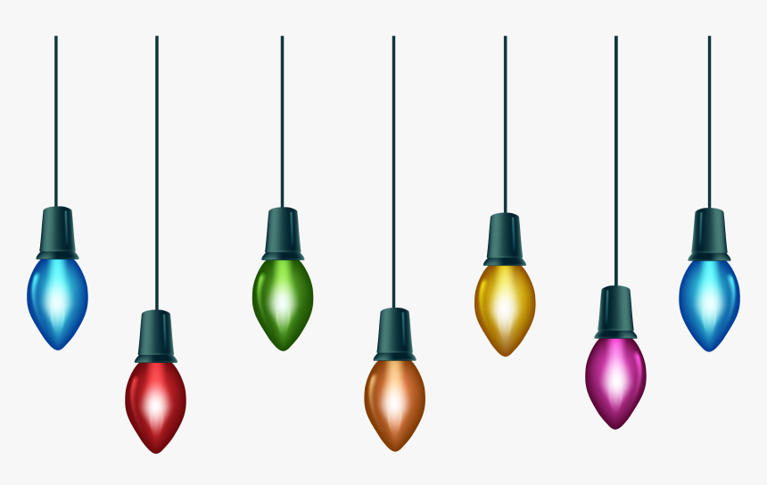 Xmas Lights Png File - Hanging Christmas Light Clipart, Transparent Png, Free Download