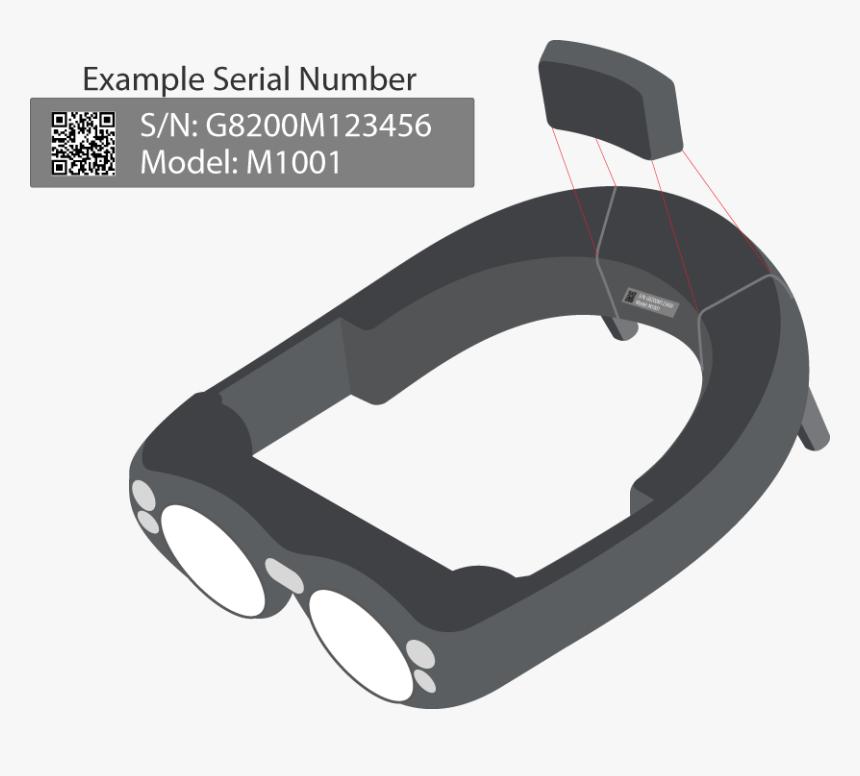 Ml Serialnumber Behindpad - Magic Leap Png, Transparent Png, Free Download