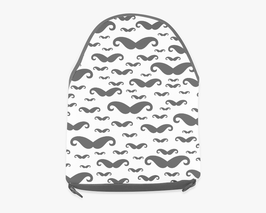Black Handlebar Mustache / Moustache Pattern Crossbody - Beanie, HD Png Download, Free Download