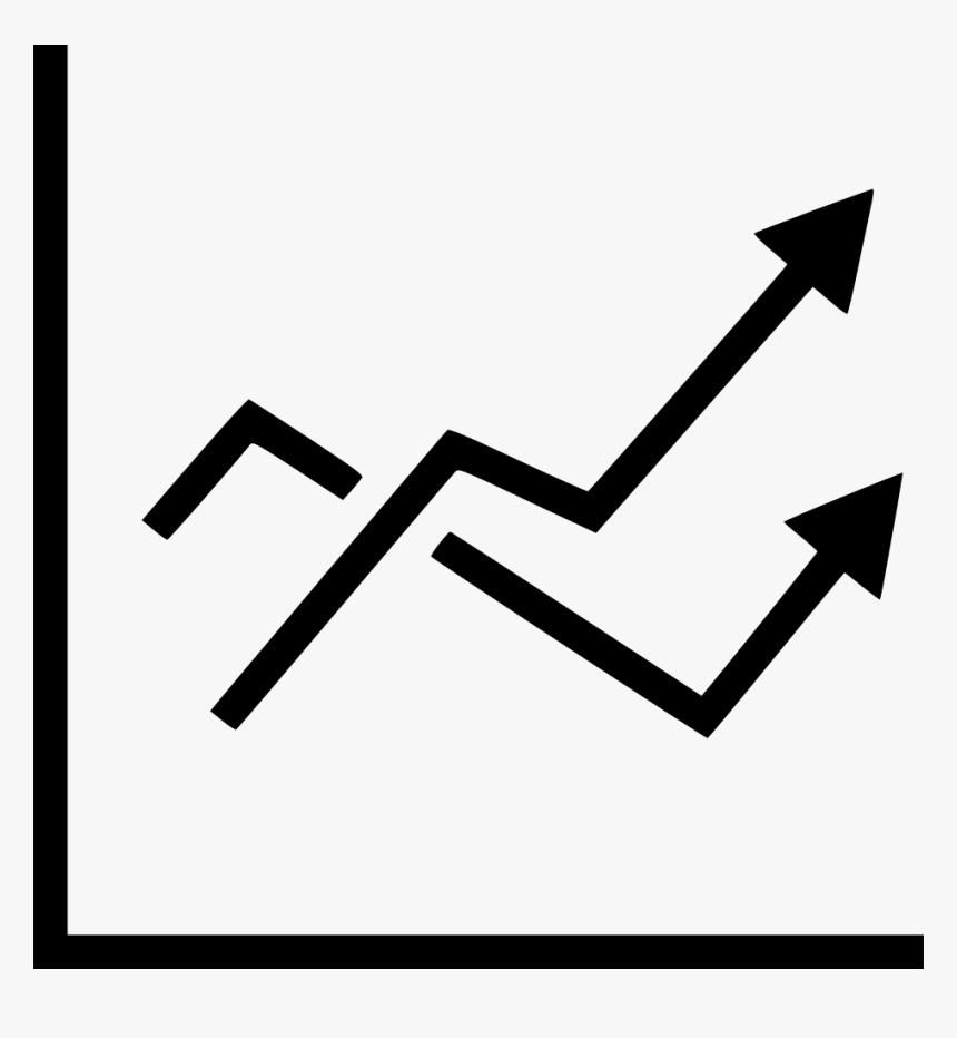 Line Chart Report Analytics Statistic Increase Arrow - Linha De Grafico Desenho Png, Transparent Png, Free Download