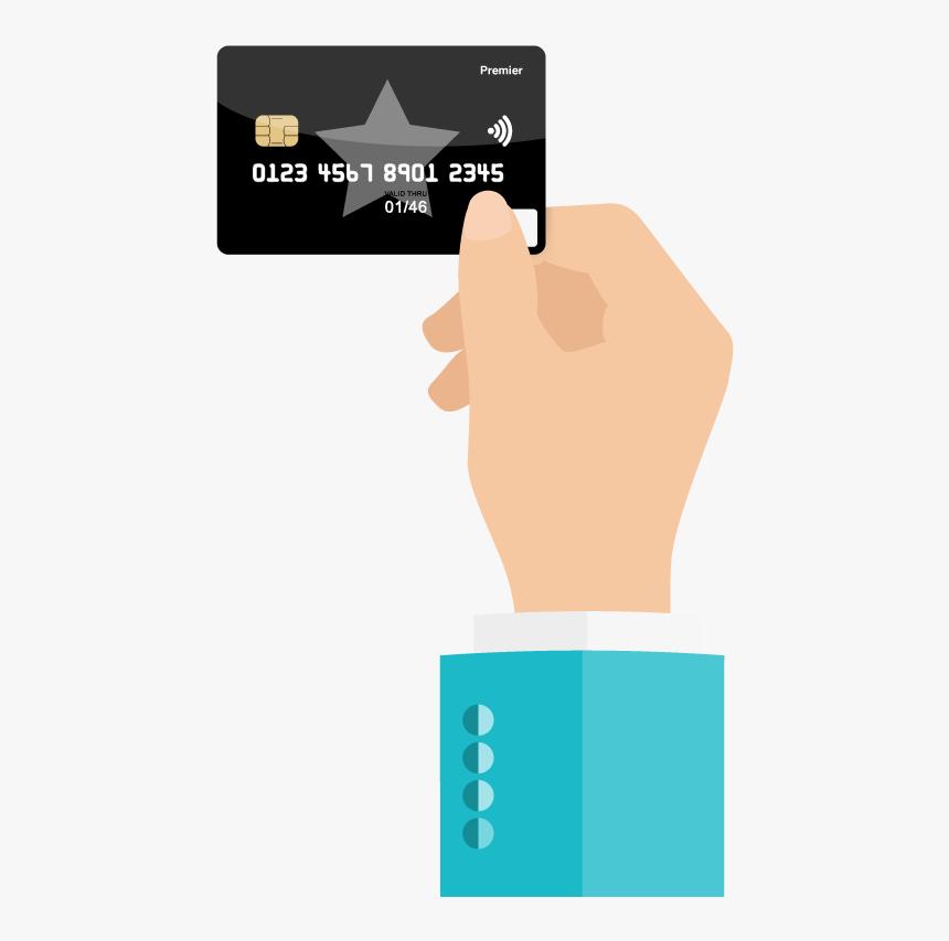 Hand Holding Card Png Download - Illustration, Transparent Png, Free Download