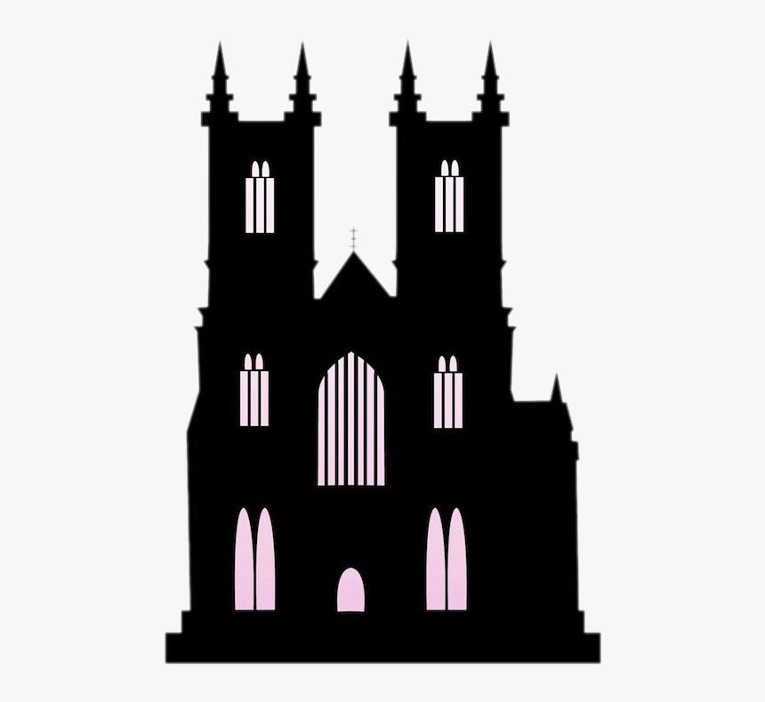 Church Silhouette Building Clip Art - Transparent Black Castle, HD Png Download - kindpng