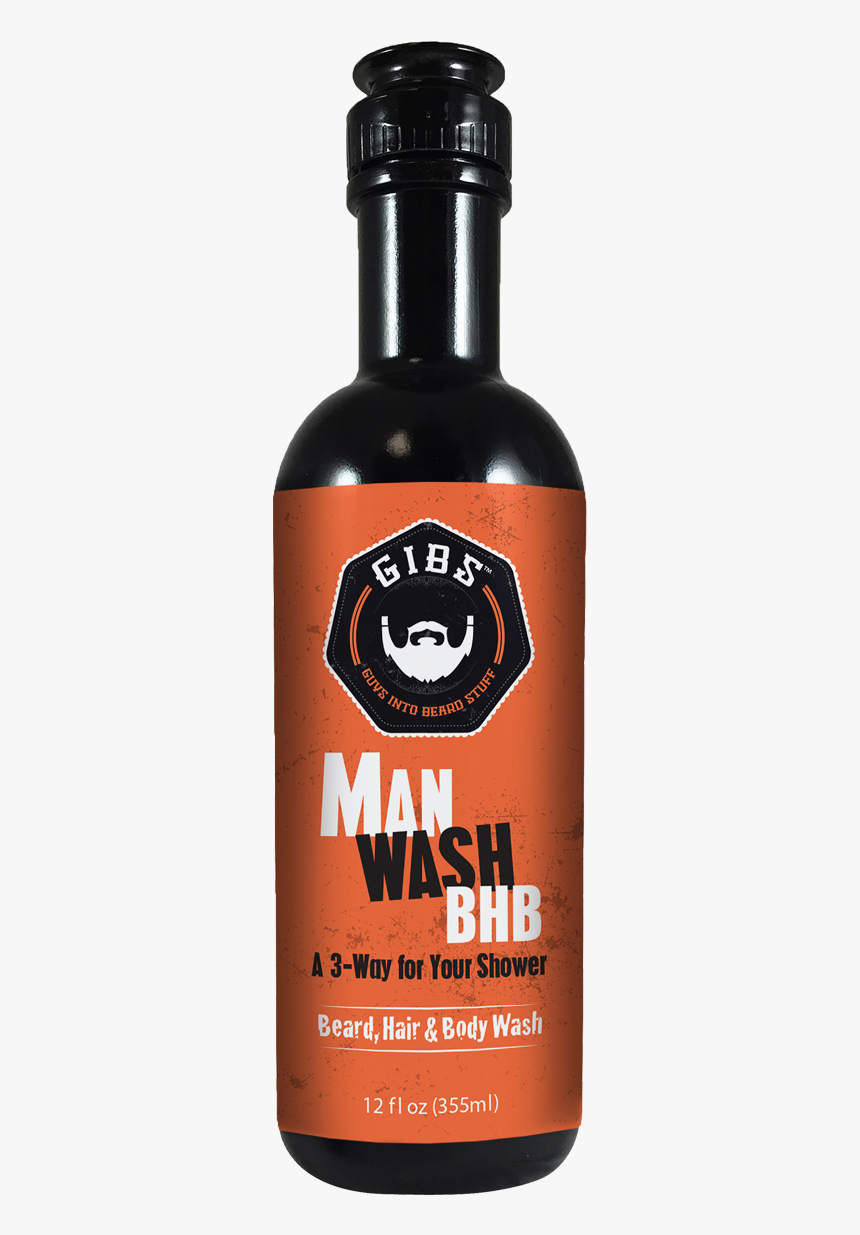 Gibs Man Wash Beard - Gibs Men's Hair Styling Products, HD Png Download, Free Download