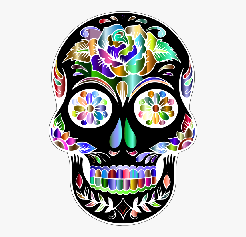 Day Of The Dead Png - Transparent Background Sugar Skull Png, Png Download, Free Download