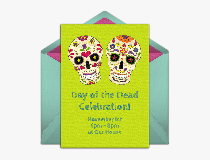 Day Of The Dead Invitation Cards, HD Png Download, Free Download