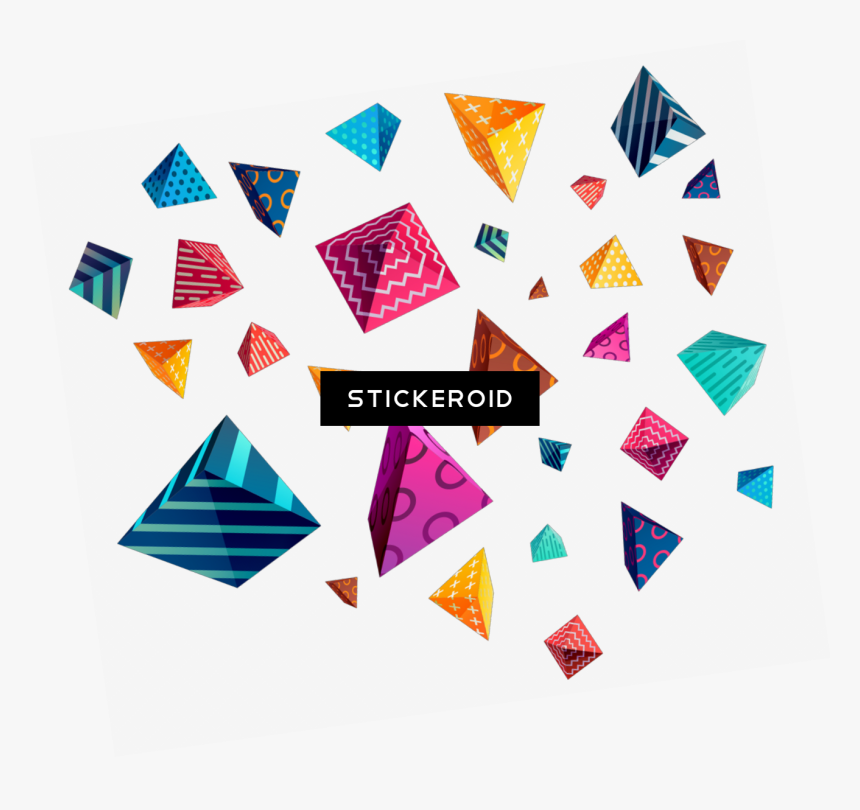 Shapes Abstract Overlay Pattern - Colorful Geometric Pattern Transparent, HD Png Download, Free Download
