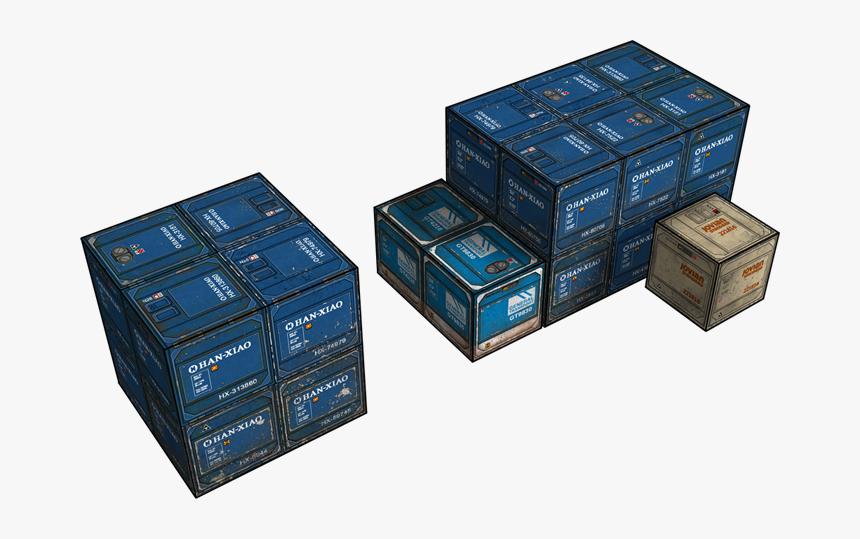 Transparent Crates Png - Sci Fi Crates Papercraft, Png Download, Free Download