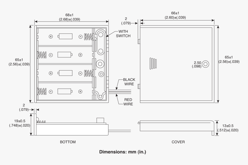 [SCHEMATICS_4NL]  Battery Drawing Aa - 4 Aa Battery Holder Dimensions, HD Png Download -  kindpng | Aaa Battery Box Wiring Diagram 4 |  | kindpng