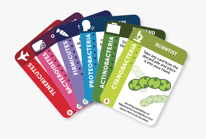 Gutsy Card Hand - Microbiology Cards, HD Png Download, Free Download