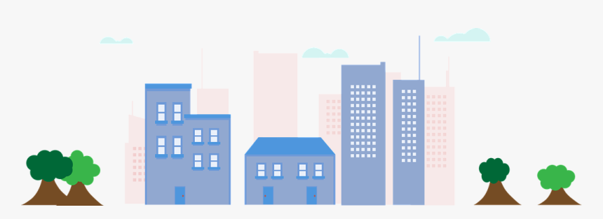 City, Skyscrapers, Metropolis, Skyline - Ilustrasi Gedung Png, Transparent Png, Free Download