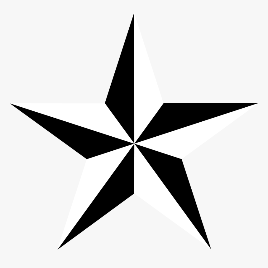 Nautical Star Picture - 5 Point 3d Star, HD Png Download, Free Download