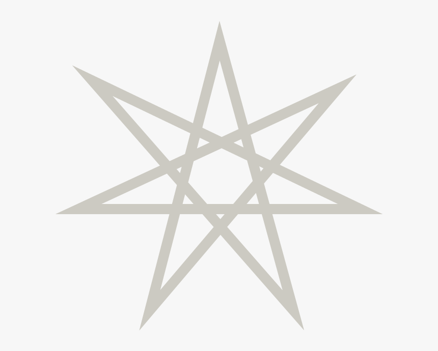 Pointing Clipart 7 Point Star - Seven Pointed Star Png, Transparent Png, Free Download