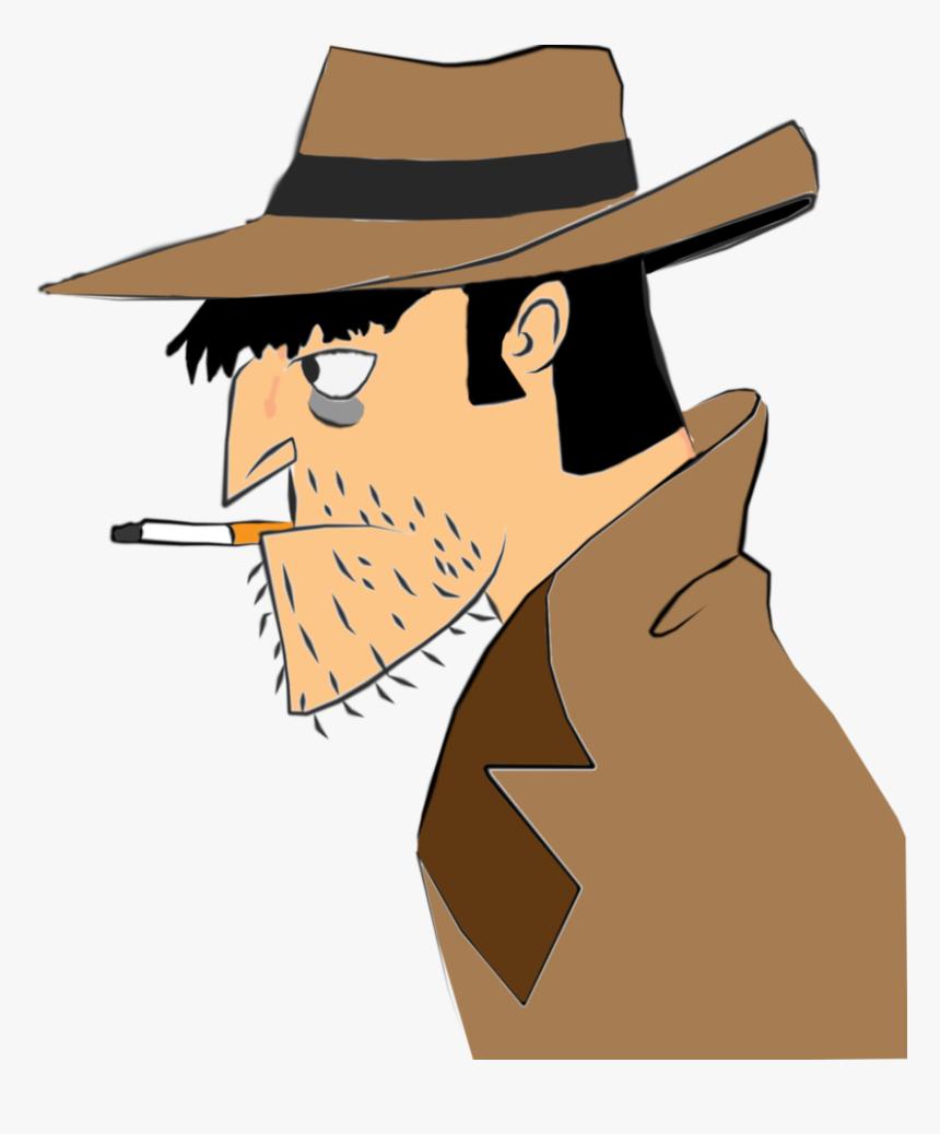 Noir Detective - Cartoon, HD Png Download, Free Download