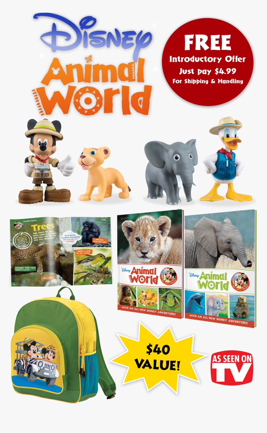 Transparent Mickey Mouse Banner Png - Disney Animal World Toys, Png Download, Free Download