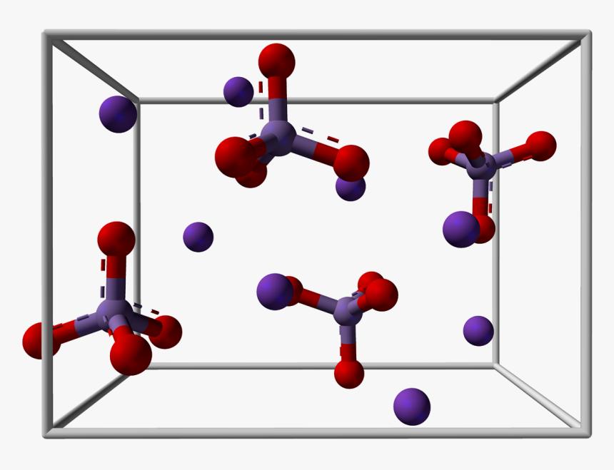 Potassium Manganate Unit Cell 3d Balls - Potassium Permanganate 3d Structure, HD Png Download, Free Download