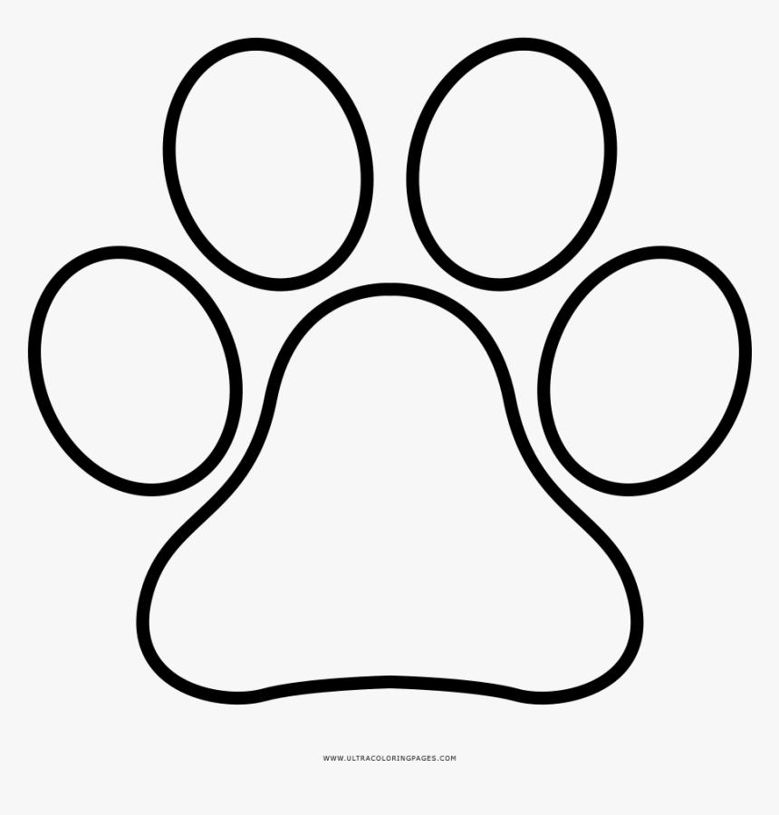 Paw Print Coloring Page Circle Hd Png Download Kindpng
