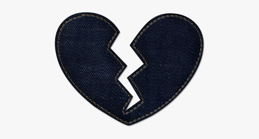 Broken Heart Icon Icons Etc Clipart - Navy Blue Broken Heart, HD Png Download, Free Download