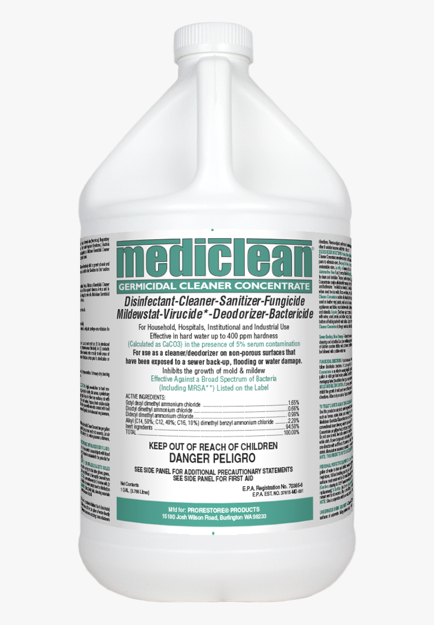 """Mediclean Germicidal Cleaner""""  Title=""""mediclean Germicidal - Microban Disinfectant Spray Plus, HD Png Download, Free Download"""