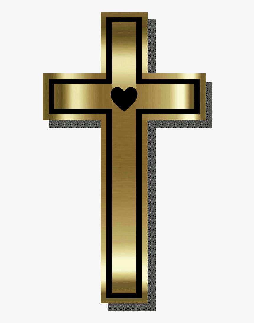 #cross #cruz #heart #coração #god #jesus #jesuschrist - Cross, HD Png Download, Free Download