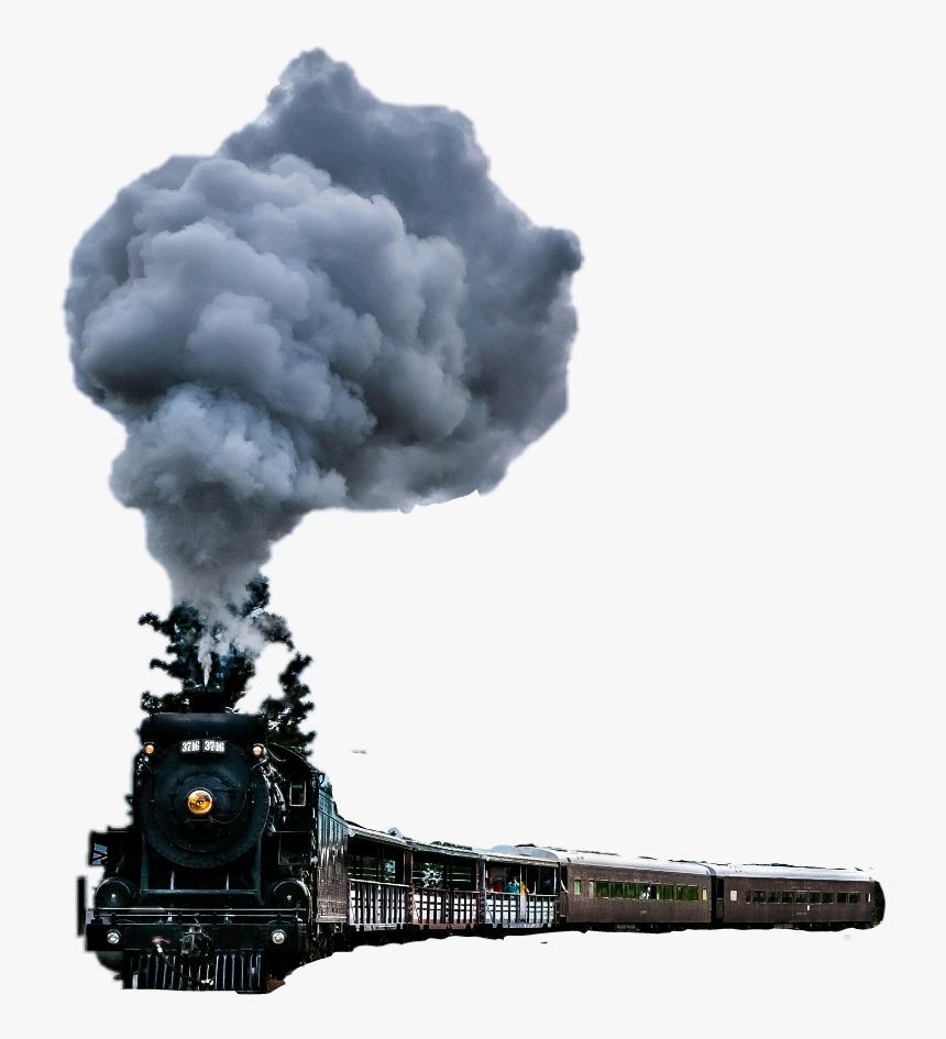 Train Cars Trainway Smoke Trainsmoke Blacktrain Oldtrai - Steam Train Wallpaper Iphone, HD Png Download, Free Download