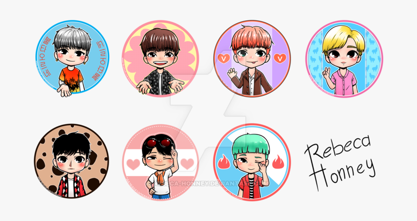 423 4238017 clip art bts desktop wallpaper bts members drawings