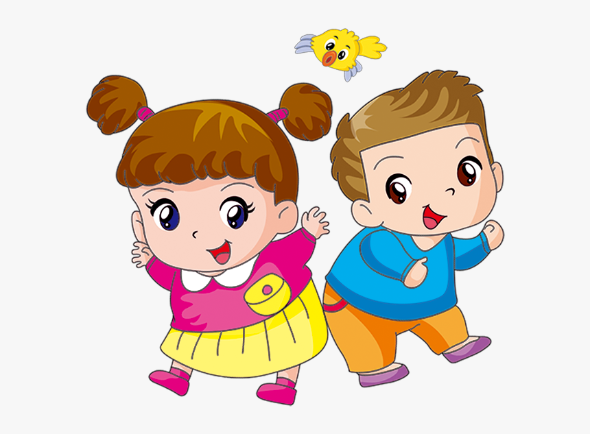Transparent Brown Hair Clipart Boy - Animated Boy And Girl Png, Png Download, Free Download