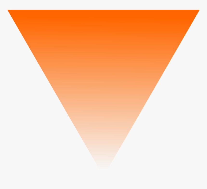 Triangle Orange Png , Png Download - Upside Down Orange Triangle, Transparent Png, Free Download