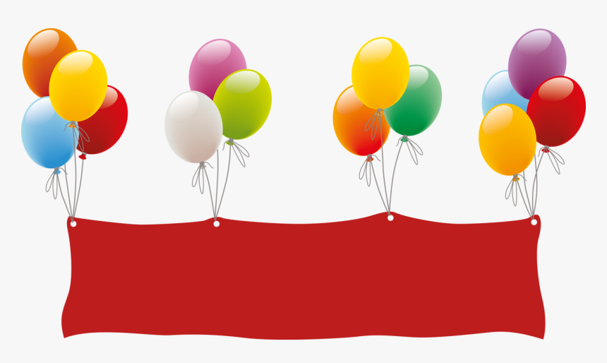 Clip Art Balloon Transprent Png Free - Balões De Aniversário Em Png, Transparent Png, Free Download