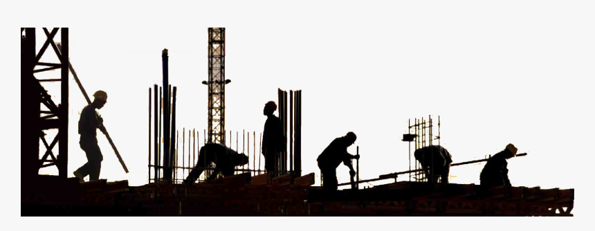 Transparent Construction Worker Silhouette Png - Background Construction Site Png, Png Download, Free Download